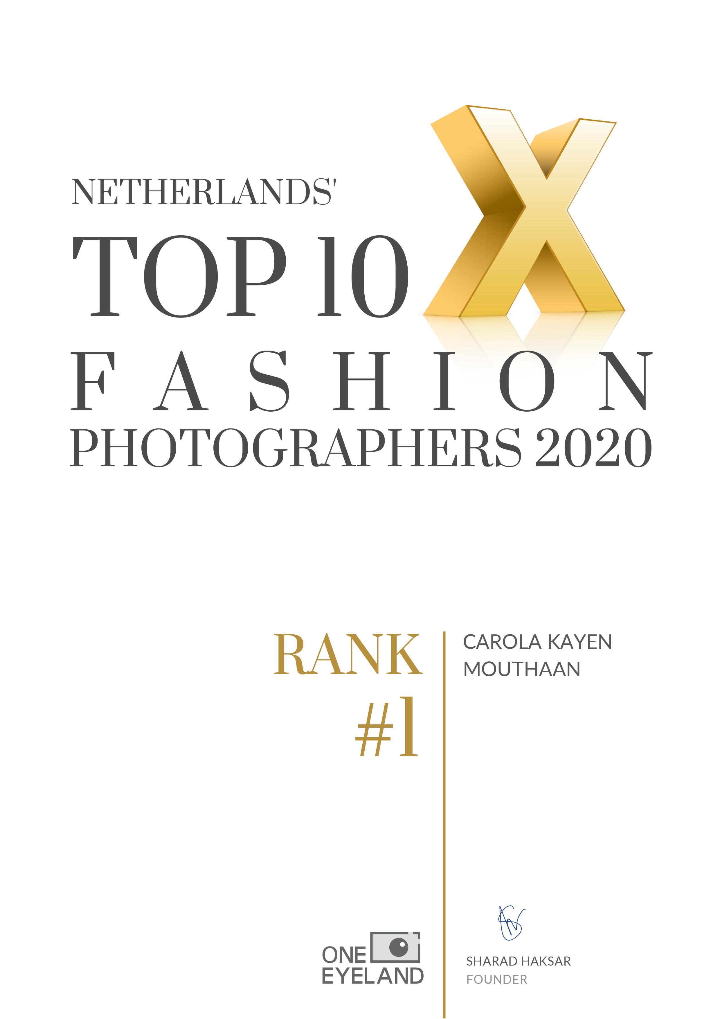 Netherlands' Top 10 Fashion Photographers 2020 - Carola Kayen Mouthaan