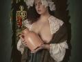 digitale paintje old fashion nude  lady