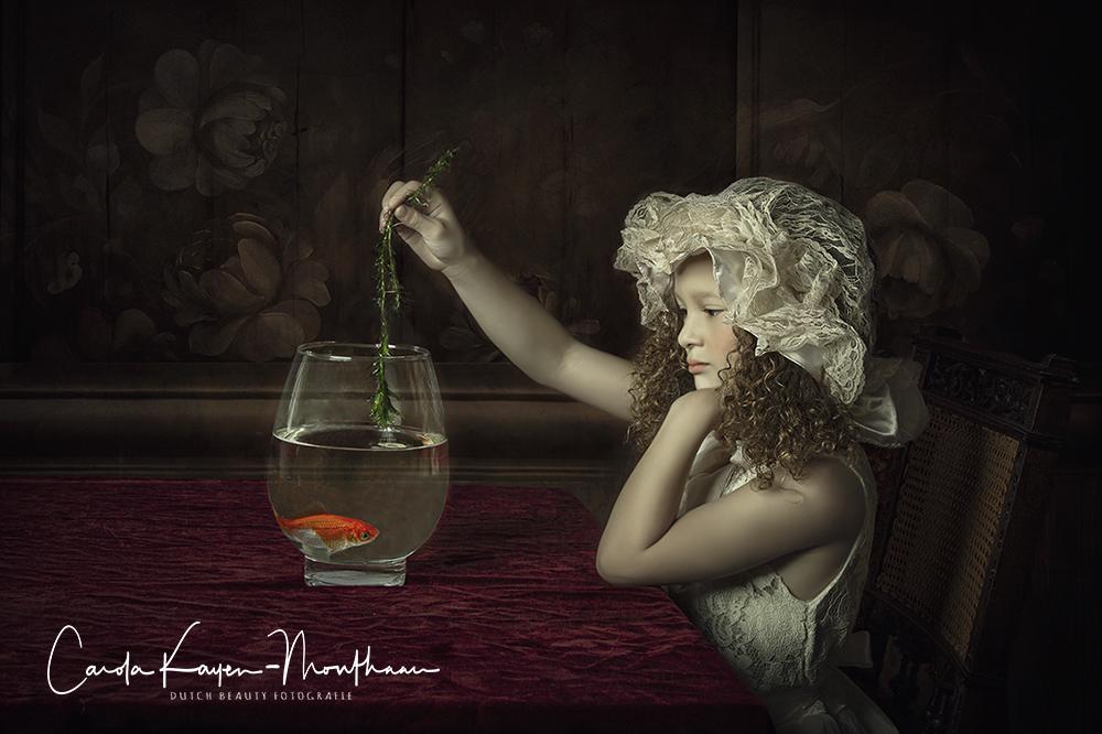 Feeding my goldfish art