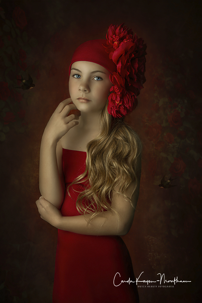 Little girl in Red art