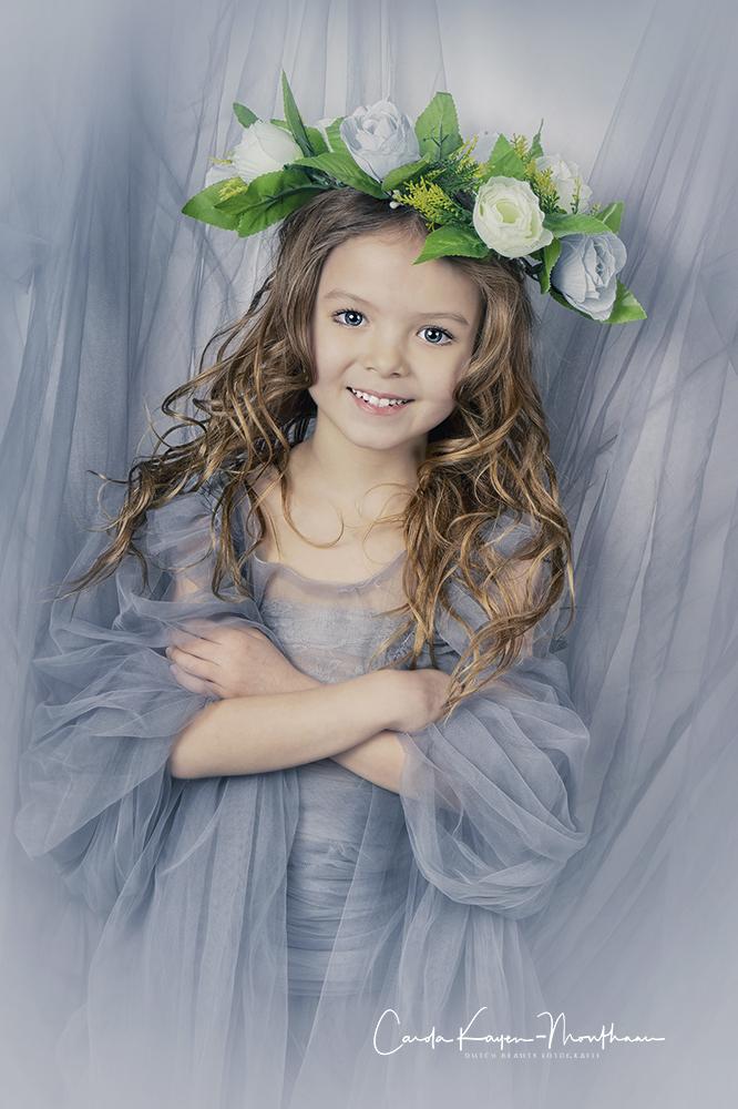 art sweet little girl
