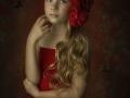Little girl in Red art